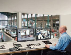 Central Control Stations: gallery image: Recording train station surveillance camera monitor screen microphone