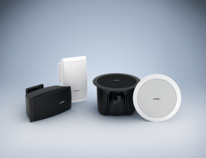 7 reasons why you should choose Reflex and Bose for your business sound system: gallery image: Bose-4speakers