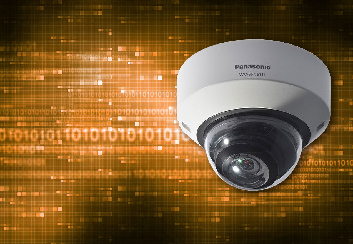 Panasonic-cctv-camera-on-digital-background