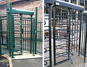 visitor access control turnstile system